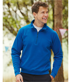 Fruit of the Loom Mens Classic Zip Neck Sweat