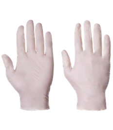 Disposable Powder Free Latex Gloves (box of 100)
