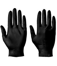 Disposable Powder Free Black Nitrile Gloves (100)